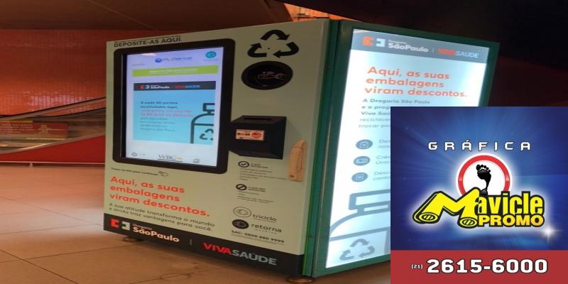 Farmácias São Paulo coloca a máquina de reciclagem no metro   ASCOFERJ
