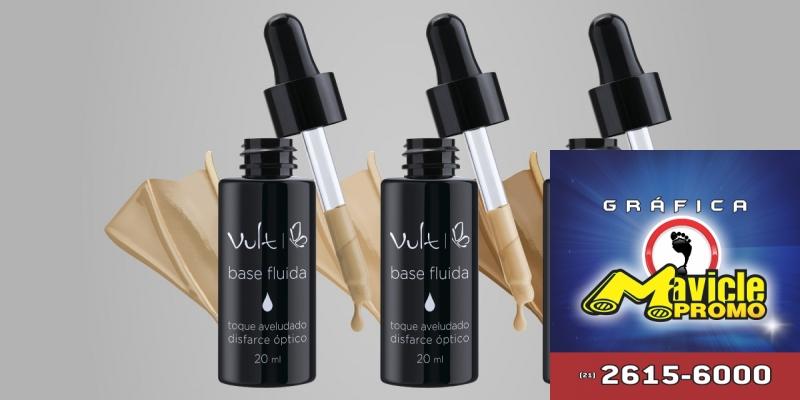 Vult lança coleção de base fluida   Guia da Farmácia   Imã de geladeira e Gráfica Mavicle Promo