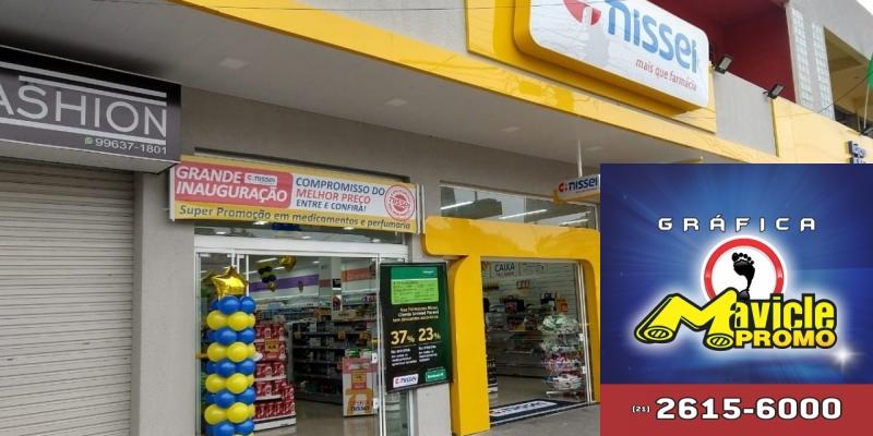 Farmácias Nissei inaugura loja em Rio Branco do Sul   Guia da Farmácia   Imã de geladeira e Gráfica Mavicle Promo
