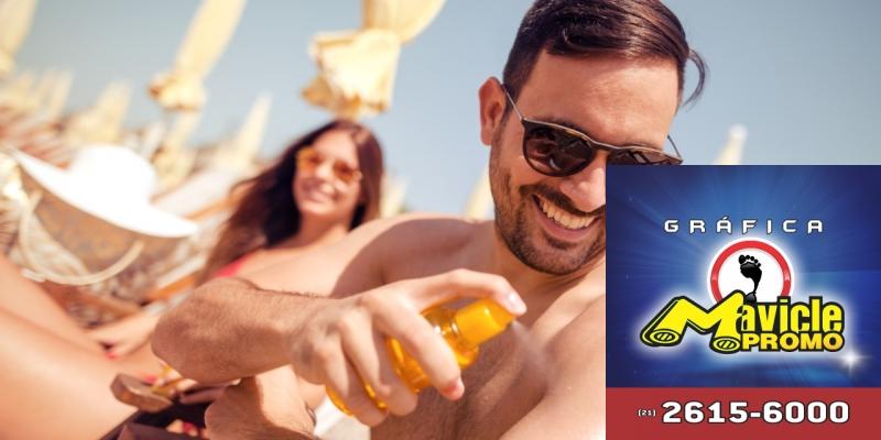 Pesquisa: apenas 20% dos homens aplicam filtro solar todos os dias   Imã de geladeira e Gráfica Mavicle Promo