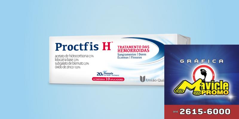 União Química acaba de lançar Proctfis H   Guia da Farmácia   Imã de geladeira e Gráfica Mavicle Promo