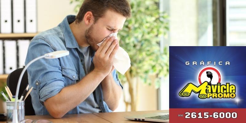 55% da população com alergia respiratória sente queda na produtividade   Imã de geladeira e Gráfica Mavicle Promo
